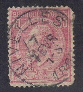 BELGIUM SC# 52 **USED** 10c  1884-85    SEE SCAN