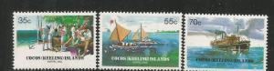 COCOS ISLANDS, 111-113, MNH, BARREL MAIL RECOVERY