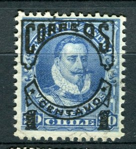CHILE; 1903 early CORREOS Optd. issue fine Mint hinged 1/20c. value