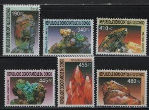 CONGO, UNLISTED, 2002SET(6), MNH, MINERALS