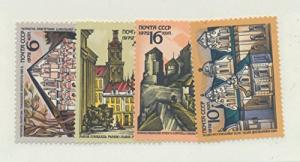 Russia Scott #3992 To 3995, Ukrainian Treasures Issue From 1972 - Free U.S. S...