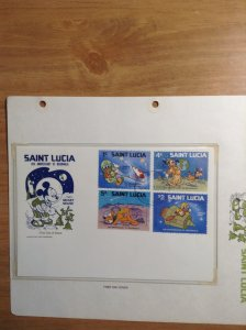 Saint Lucia  #  491-499  First day cover
