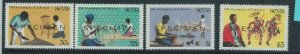 78434b - NEVIS - STAMPS:  DANCING Music  4 values MNH - Overprinted SPECIMEN
