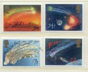 Great Britain Sc#1133-1136  1986 Halley's Comet MNH