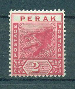 Malaya - Perak sc# 43 mh cat value $1.80