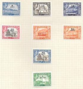 Aden Scott #36-43 Mint H  Scott CV $18.65