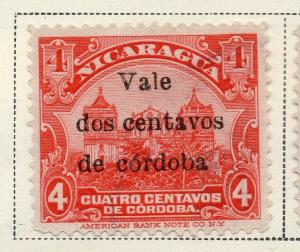 Nicaragua 1918-21 Early Issue Fine Mint Hinged 2c. Surcharged 323638