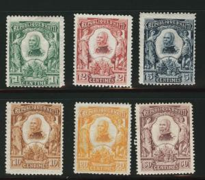 HAITI Scott 96-101 Mint 1904 stamp set similar centering