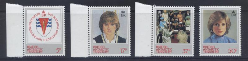 BRITISH ANTARCTIC Terr. Scott -92-95 - Diana -1982- MNH- Set of 4 Stamp