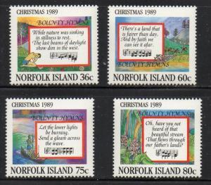 Norfolk Island Sc 462-5 1989 Christmas stamp set mint NH