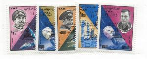 Yemen Arab Republic (YAR), MI#: 514-18, Space Ovpt Singles, MNH