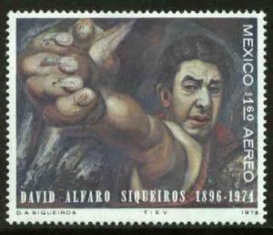 MEXICO C463 In Memoriam David Alfaro Siqueiros, painter MNH. VF.