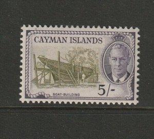 Cayman islands 1950 GV1 Defs 5/- MM SG 146