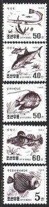 North Korea. 1995. 3765-69. Fish, fauna. MNH.