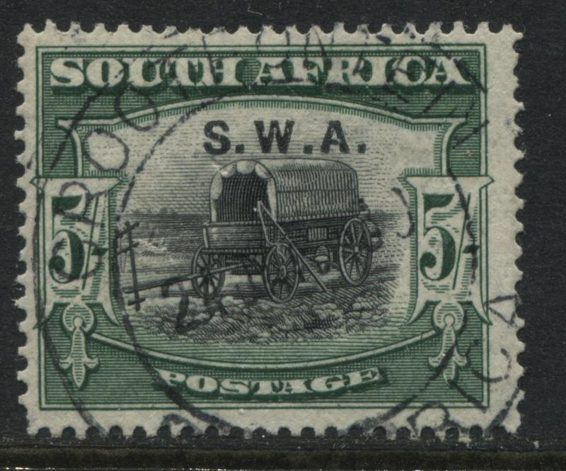 1927 South West Africa SA overprinted SWA 5/ CDS used