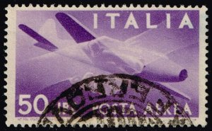 Italy #C114 Plane and Clasped Hands; Used (3Stars)