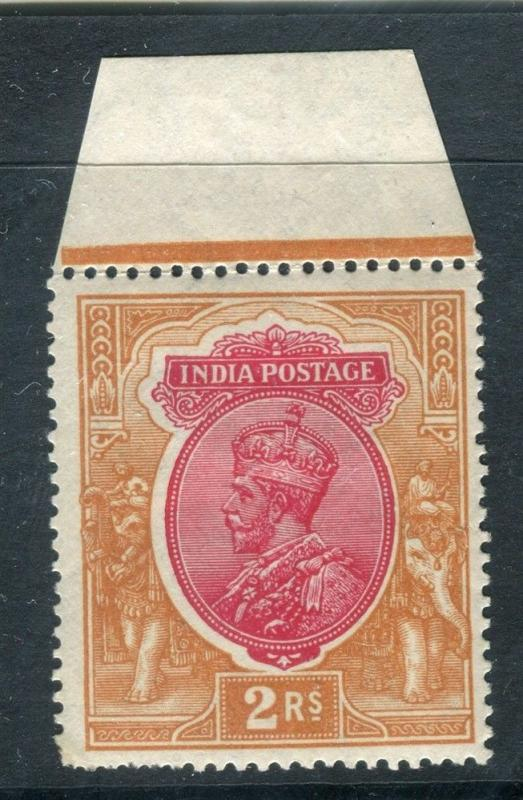 INDIA; 1920s early GV issue fine Mint hinged 2R. value
