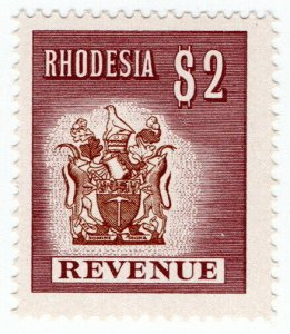 (I.B) Rhodesia Revenue: Duty Stamp $2 (1970)