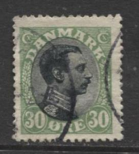 Denmark - Scott 111 - King Christian X Issue -1918 - Used - Single 30o Stamp