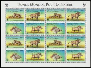 Djibouti WWF Eritrean Warthog Sheetlet of 4 sets SG#1192-1195 MI#678-681 SC#795