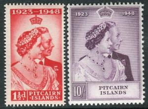 PITCAIRN ISLANDS-1948 Royal Silver Wedding.  An unmounted mint set Sg 11-12