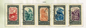 LIBERIA STAMP 1924 Ships USED STAMPS LOT