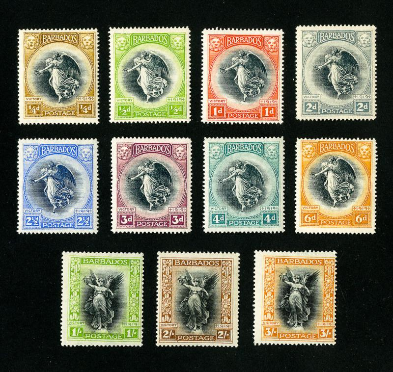 Barbados Stamps # 140-5 VF OG LH Set of 6 Scott Value $150.00