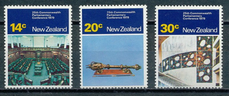 NEW ZEALAND Sc#698-700 - 25th Commonwealth Parliament Conference (1979) MNH