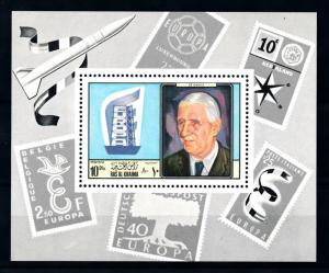 [94248] Ras al Khaimah 1969 Charles de Gaulle Stamps on Stamps Sheet MNH