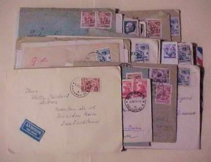 YUGOSLAVIA  49  SMALL COVERS AFTER 1950 ALL TO FOREIGN DESTINATION