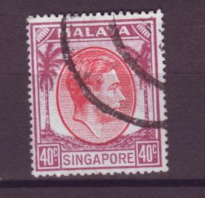 J21357 Jlstamps 1949-52 singapore used #16a king perf 18