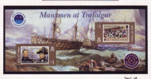 Isle of Man Sc 1086 2005 Battle of Trafalgar stamp sheet mint NH