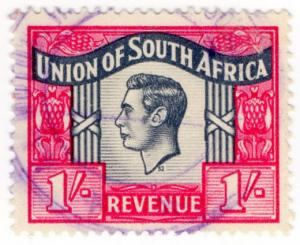 (I.B) South Africa Revenue : Duty Stamp 1/-