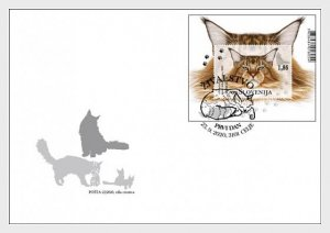 Slovenia 2020 The Domestic Cats S/S FDC's