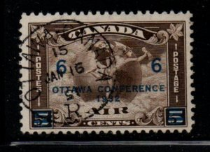 Canada Sc C 4 1932 6 c on 5 c Ottawa Conference airmail stamp used