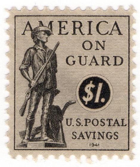 (I.B-CK) US Revenue : Postal Savings $1 (1941)