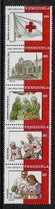 Venezuela #1525 MNH Strip - Red Cross