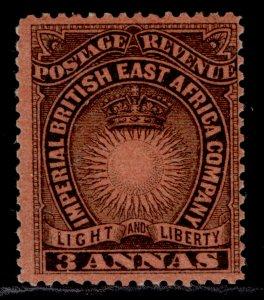 BRITISH EAST AFRICA QV SG8a, 3a black/bright red, M MINT. Cat £4.