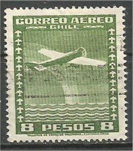 CHILE, 1935  used 8p ,Airplane Scott C45