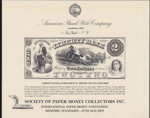 US American Bank Note Co. Souvenir Card SO9