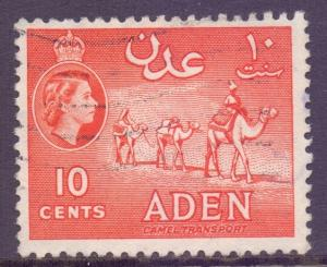 Aden Scott 49 - SG49, 1954 Elizabeth II 10c used