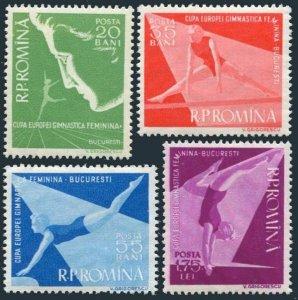Romania 1155-1158, MNH. Mi 1639-1642. European Women's Gymnastic meet, 1957.