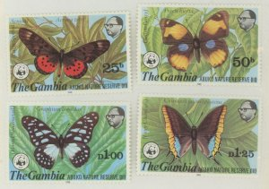 Gambia 404-7 * mint LH-HR butterfly (2107 306)