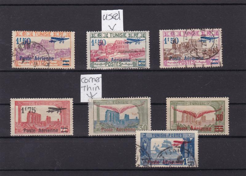 tunisia 1919 - 27 air mounted mint & used  stamps ref r15142