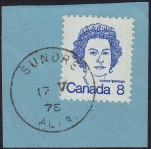 Canada - 1973 - Scott #593 - used - SUNDRE ALTA pmk