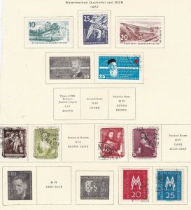 GE::  DDR  ^^^^1957  mint & used  on page  $$@ sc 242xxbddr