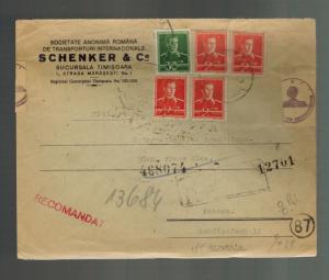 1943 Timisoara Romania Censored Commercial Cover to Passau Germany