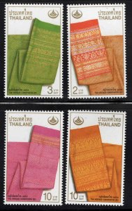 Thailand  Scott 1966-1969 MNH** Colorful Brocade stamp set