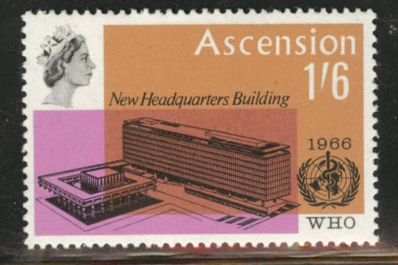 ASCENSION Scott 103 WHO 1966 MH* stamp