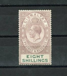 GIBRALTAR GEO V  SCOTT#90,  SG#101   MINT HINGED